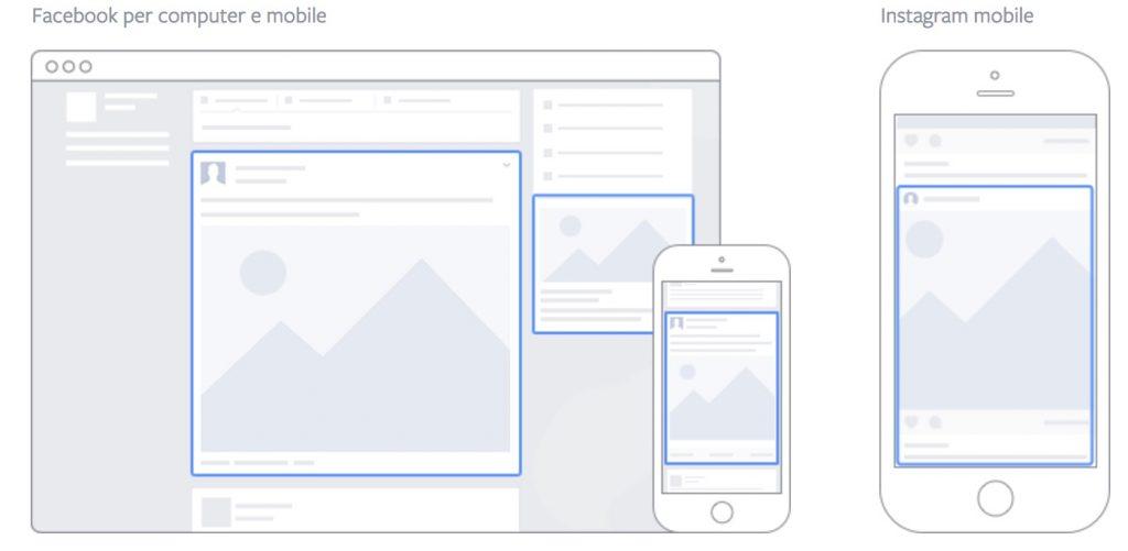 diversi layout di facebook